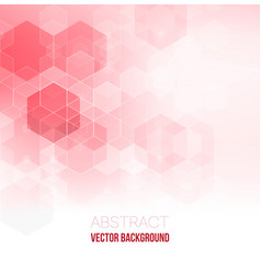 pink abstract background abstract hexagon vector image vector image