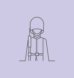 Queen s Guard vector image vector image