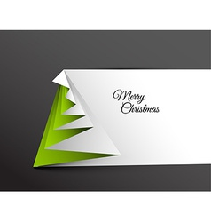 Simple christmas tree made from paper vector image vector image