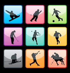 Sports buttons set01 vector