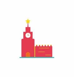 St basil cathedral in moscow red square vector