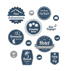 Typography design of travel and cruise tours vector image vector image