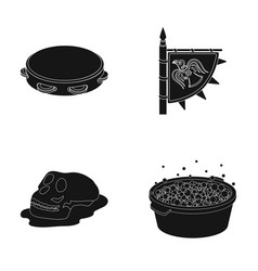 Washing music and or web icon in black style vector