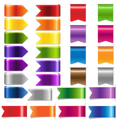 web ribbon set vector image