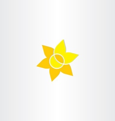 Yellow sun flower icon vector