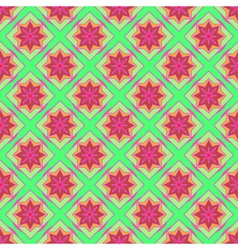 Multicolored geometric seamless pattern vector