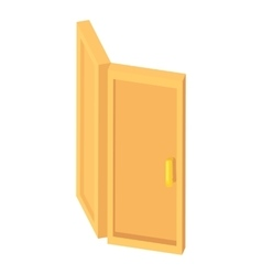 Door icon cartoon style vector