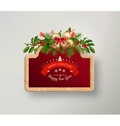 Christmas sign board vector