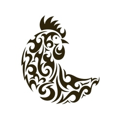 Ornamental rooster - symbol of new year 2017 vector