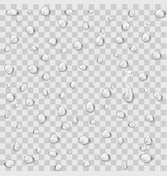 Set of transparent realistic pure clear water vector