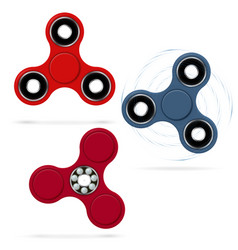 Rotating fidget spinners stress relieving toy 3d vector
