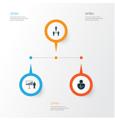 Administration icons set collection of project vector