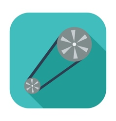 Timing belt flat icon vector