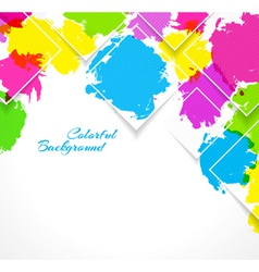 Abstract background with colorful splash vector image