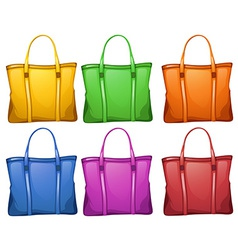 Colourful handbags vector