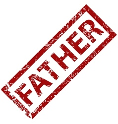 Father rubber stamp vector