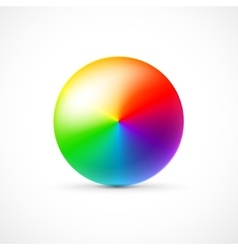 Colorful 3d ball on white background vector