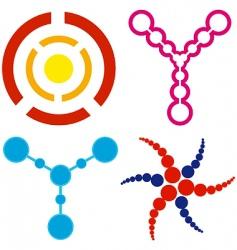 circle logos vector image