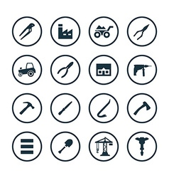 Construction icons universal set vector