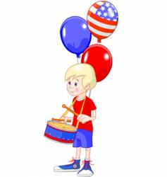 fourth of July boy vector image