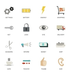 Set of universal flat icons vector
