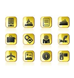 Vacation and holidays icon vector