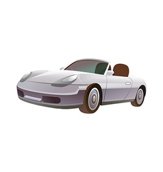 A car is plarked vector image vector image