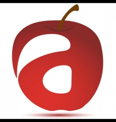 apple with text vector image vector image