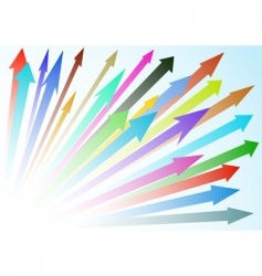 arrow background vector image vector image