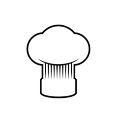 Chefs hat kitchen restaurant icon graphic vector