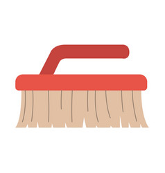 colorful silhouette of cleaning brush vector image