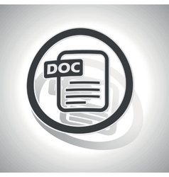 DOC document sign sticker curved vector image