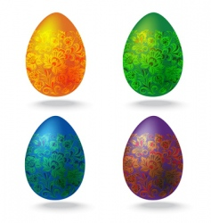 Easter egg collection vector image