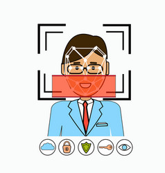 Face recognition and identification system vector