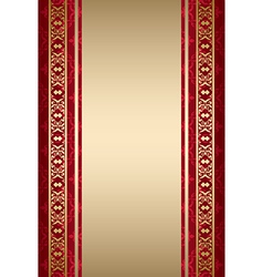 gold and red ornamental background vector image vector image