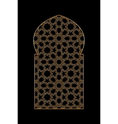 Gold islamic window vector