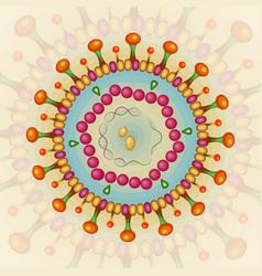 Hepatitis b virus background eps 10 vector