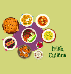 Irish cuisine icon for scandinavian food design vector
