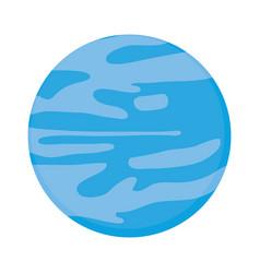 neptune planet icon vector image vector image