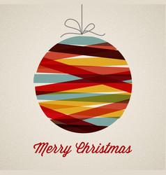Retro christmas card vector