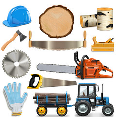 sawmill icons vector image vector image