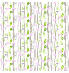 seamless floral pattern on a white background vector image