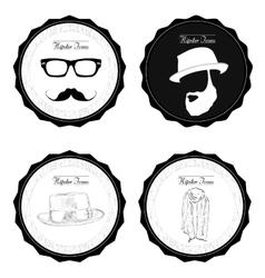 Set of hipster labels vector image