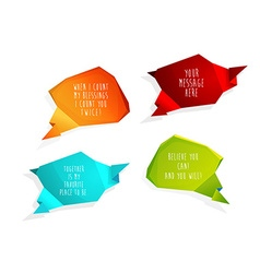 Set of speech bubbles with place for your own text vector image vector image