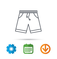 Shorts icon casual clothes shopping sign vector