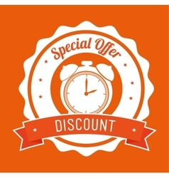 Special offer discount orange stamp banner vector