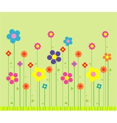 Stylish flower background vector image