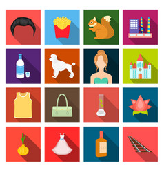 Textile cosmetology restaurantand other web icon vector