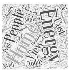 View home energy ll word cloud concept vector