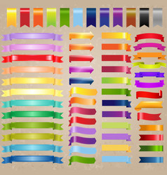 web ribbon set with old background vector image